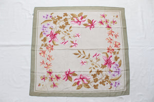 100% SILK CREPE RUSSIAN FLORAL PRINT SCARF