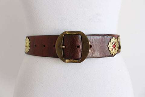 VINTAGE SWISS FARMER GENUINE LEATHER BELT