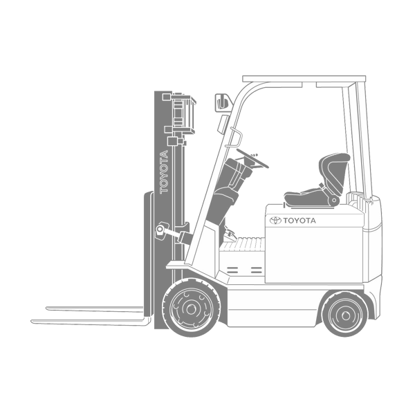 Overall condition forklift