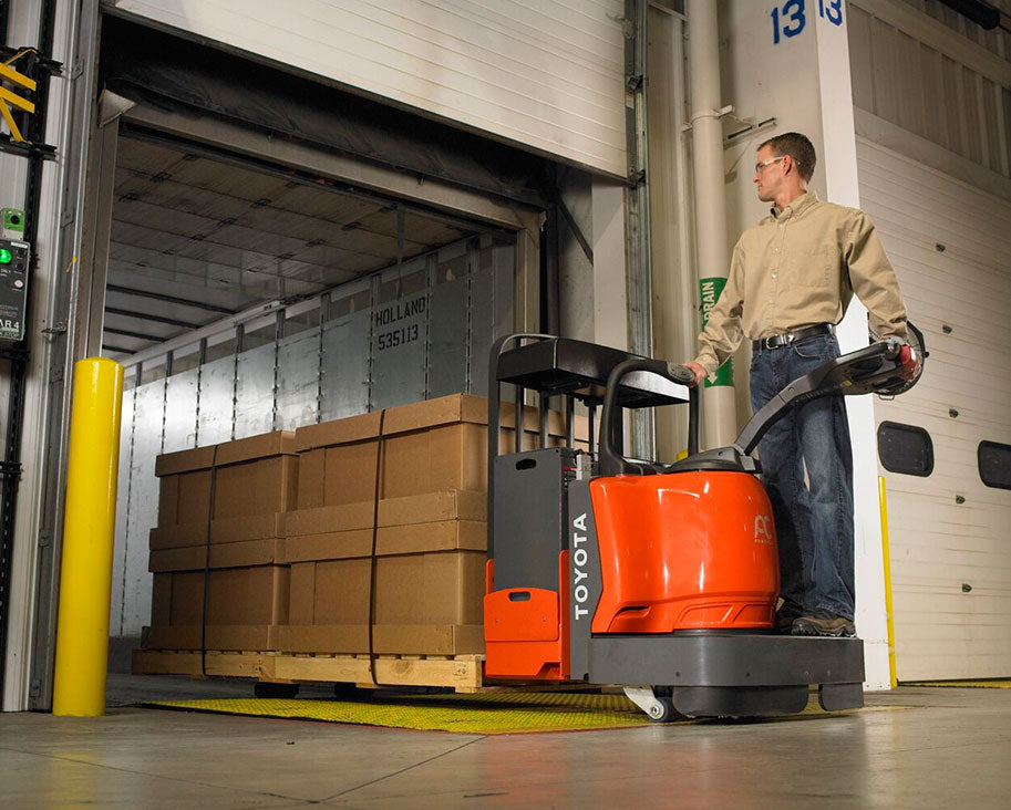 Toyota End-Controlled Rider Pallet Jack