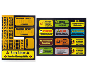 Lift Truck Safety Stickers