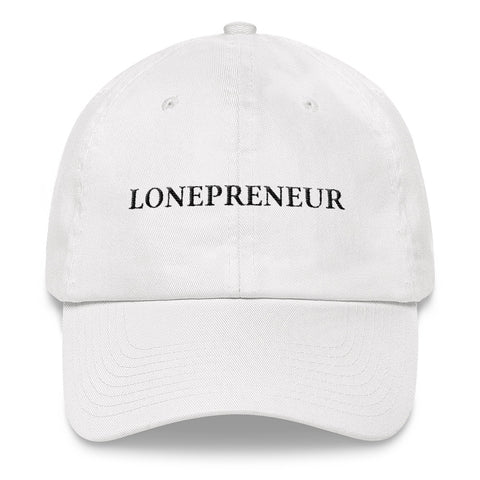 LONEPRENEUR - WHITE STRAPBACK