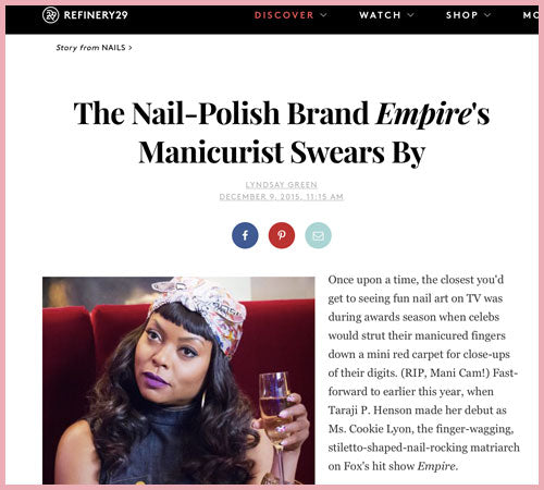 Refinery: The Nail-Polish Brand Empire's Manicurist Swears By