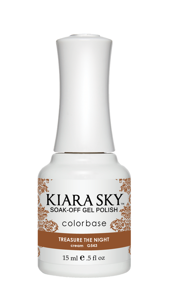 ESMALTE PARA UÑAS - Kiara Sky México - ESMALTE EN GEL POLISH - G543 TREASURE THE NIGHT DE KIARA SKY - uñas 2019 -