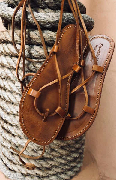 Flat Leather Sandals - sarahmajdi