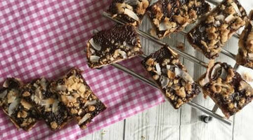 Coconut Jam and Peanut Butter Bars