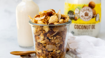 STOVE TOP COCONUT & RAISING GRANOLA BY NOURISHING AMY!