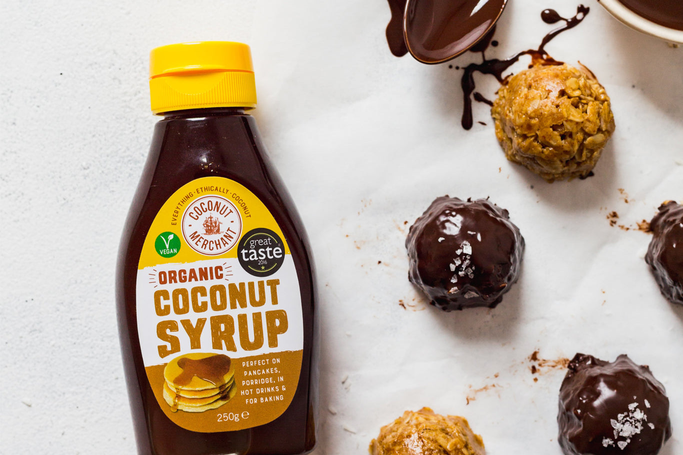 Coconut syrup energy balls