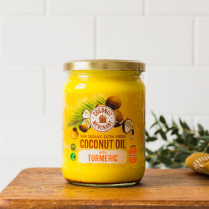 Raw Organic Extra Virgin Coconut Oil With Turmeric 500ml