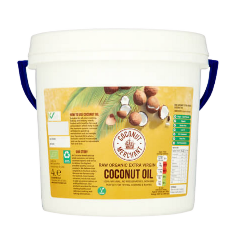 Raw Organic Extra Virgin Coconut Oil 4L