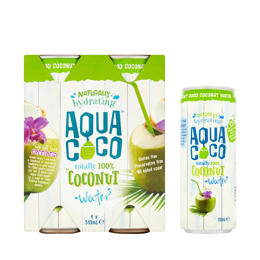 Aqua Coco Coconut Water 4 x 310ml
