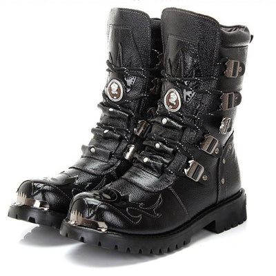 Handmade Biker Leather Boots