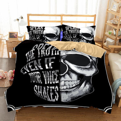 """Speak The Truth Even If Your Voice Shakes"" Bedding set"
