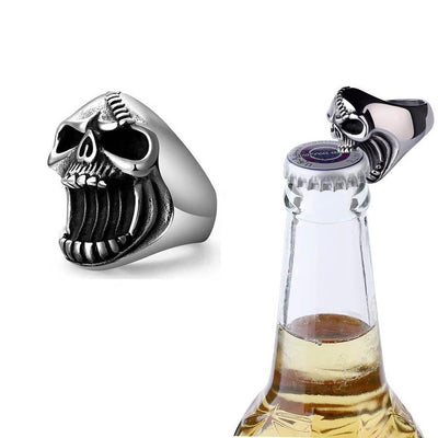 Skull Ring & Bottle Opener