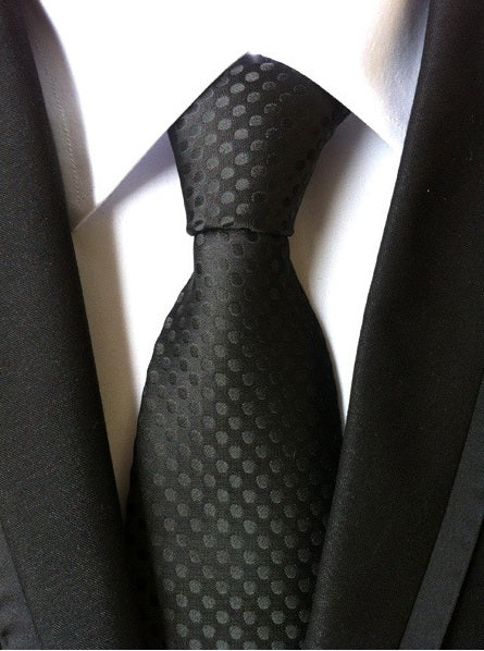 Black-red tie with a luxurious perforated pattern