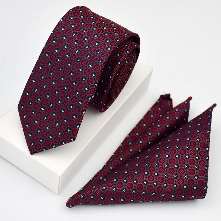 Tie and handkerchief set