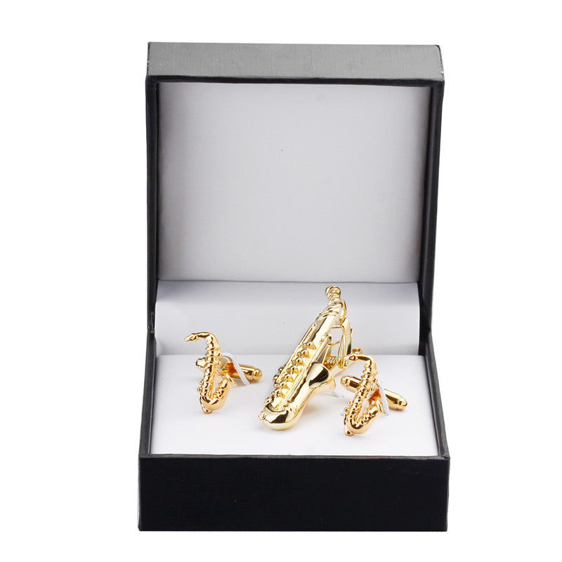 Gold saxophone set