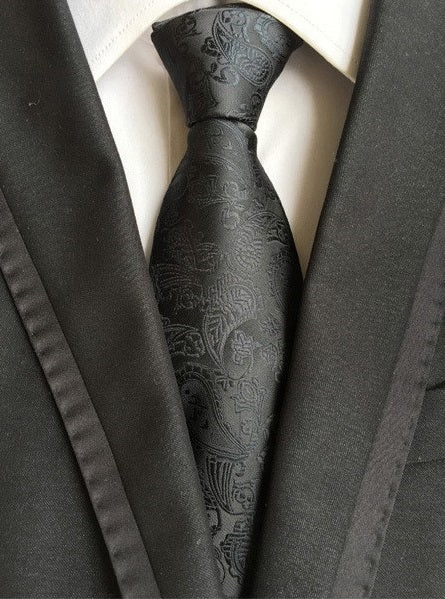 Men's Black tie with a luxurious design