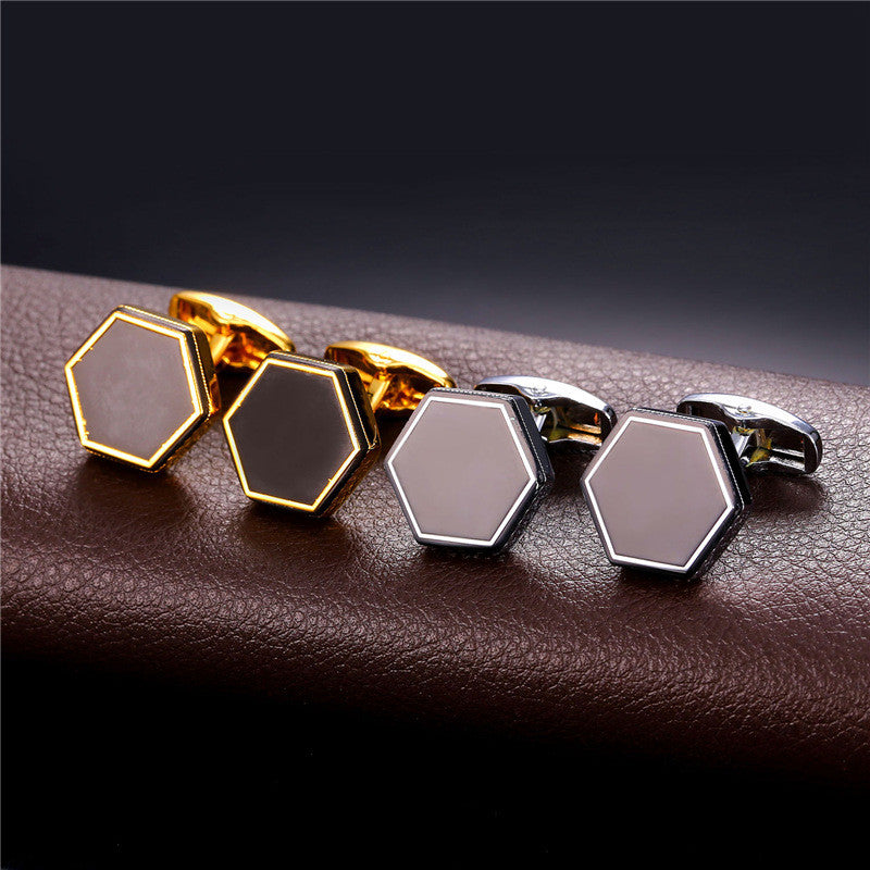 Cufflinks 2 colors of precious metals