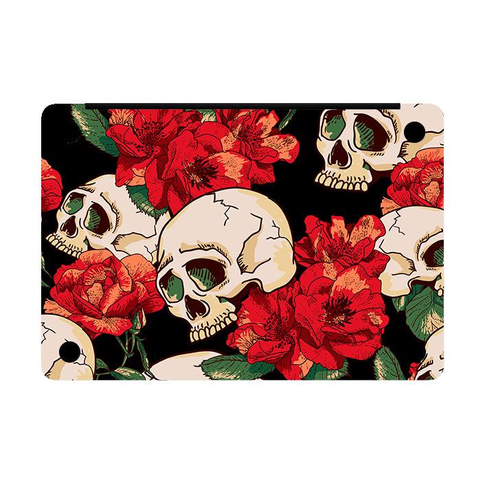SKULLS AND ROSES MACBOOK SKIN