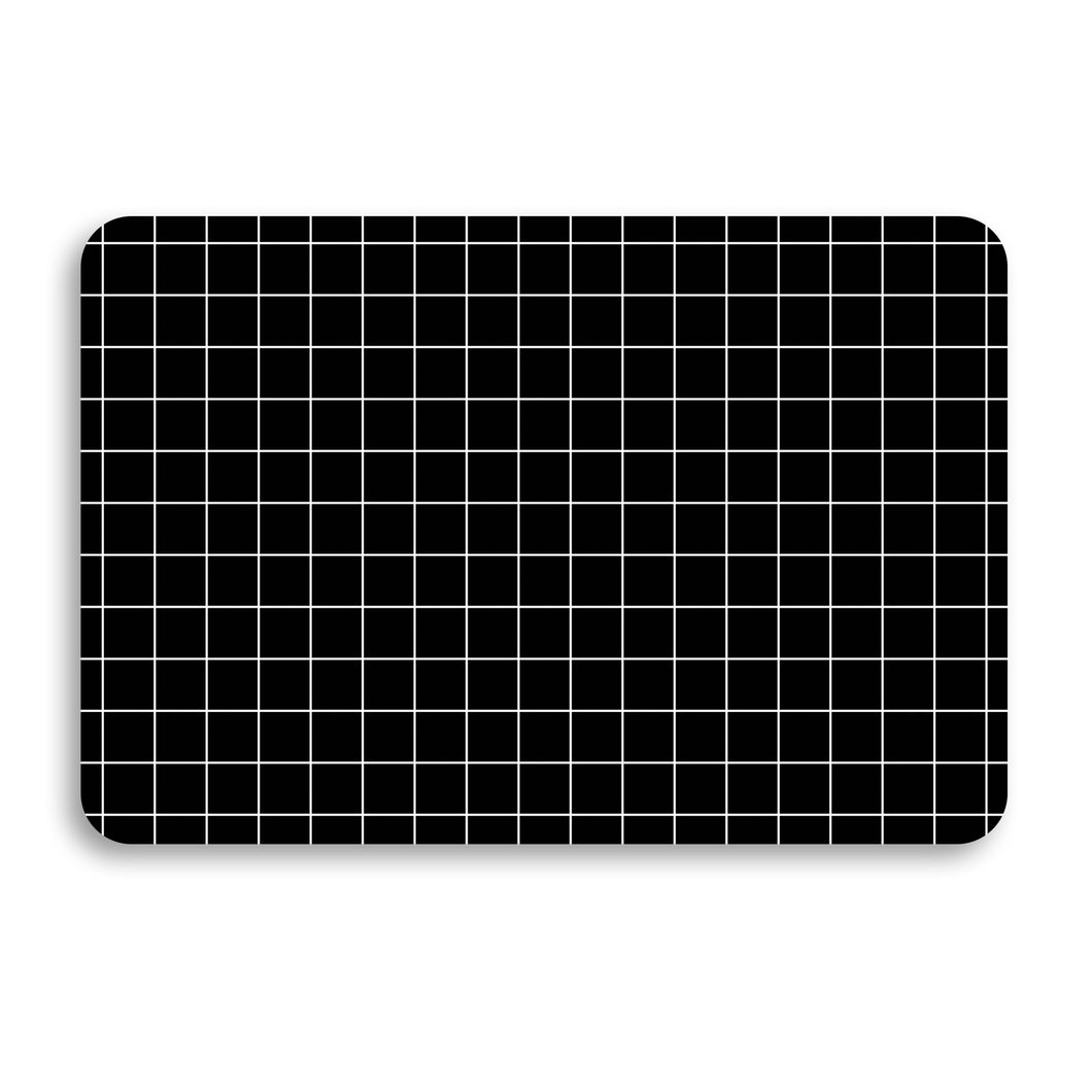BLACK GRID UNIVERSAL LAPTOP SKIN