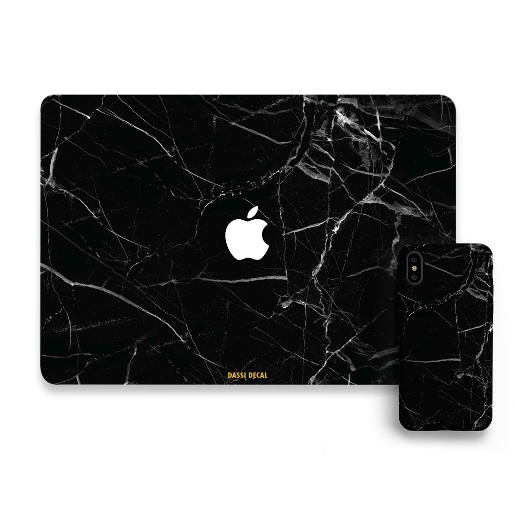 BLACK MARBLE IPHONE BUNDLE SET
