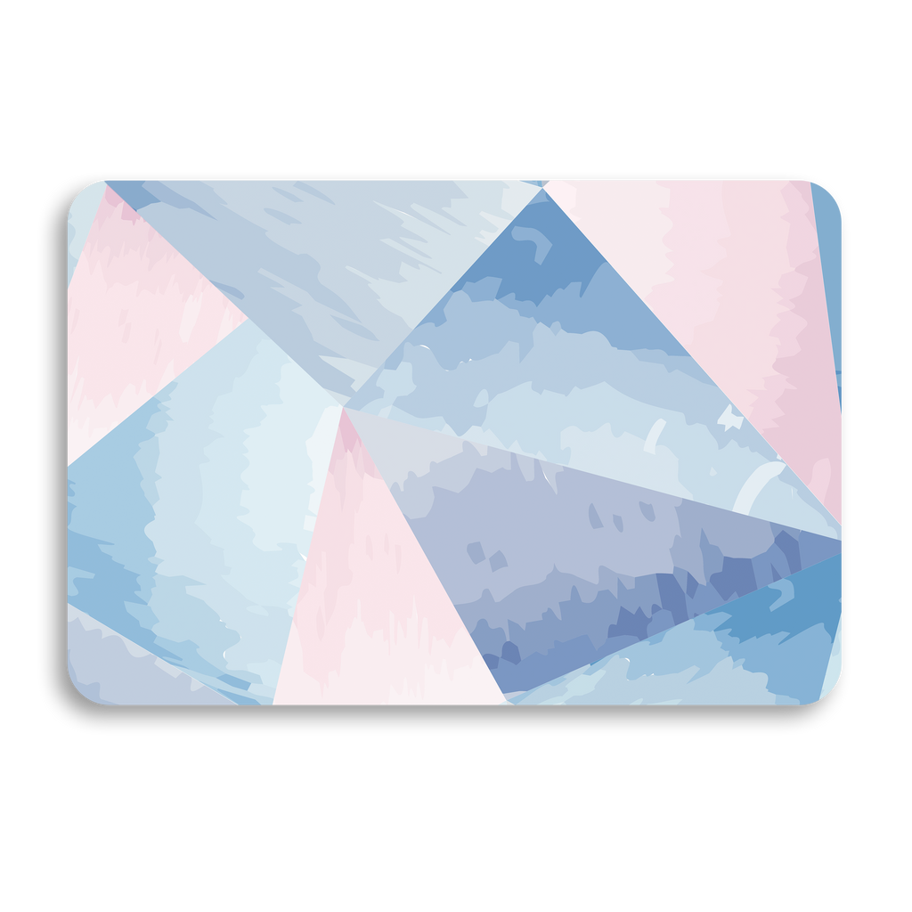 BLUE GEOMETRIC UNIVERSAL LAPTOP SKIN