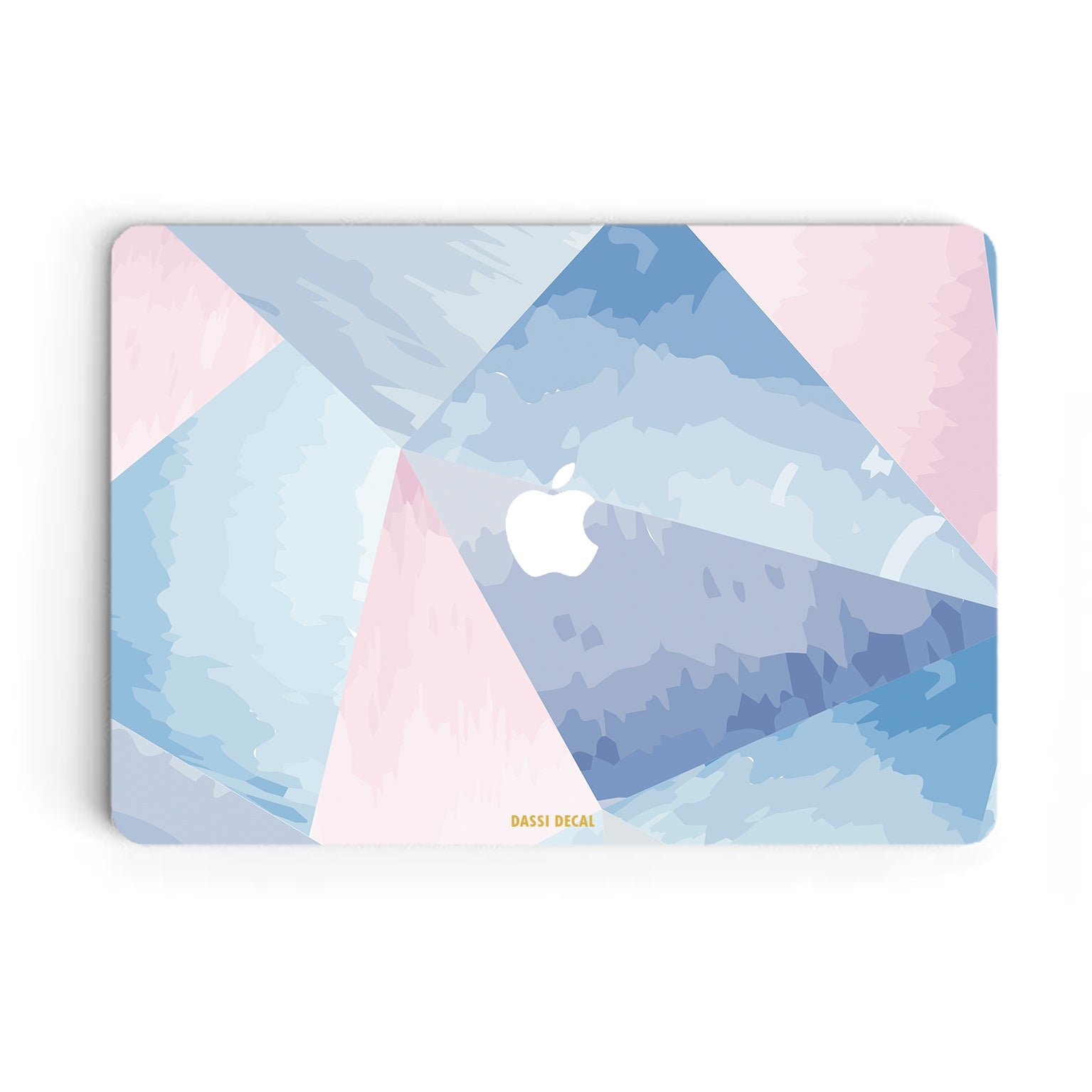 BLUE GEOMETRIC MACBOOK SKIN