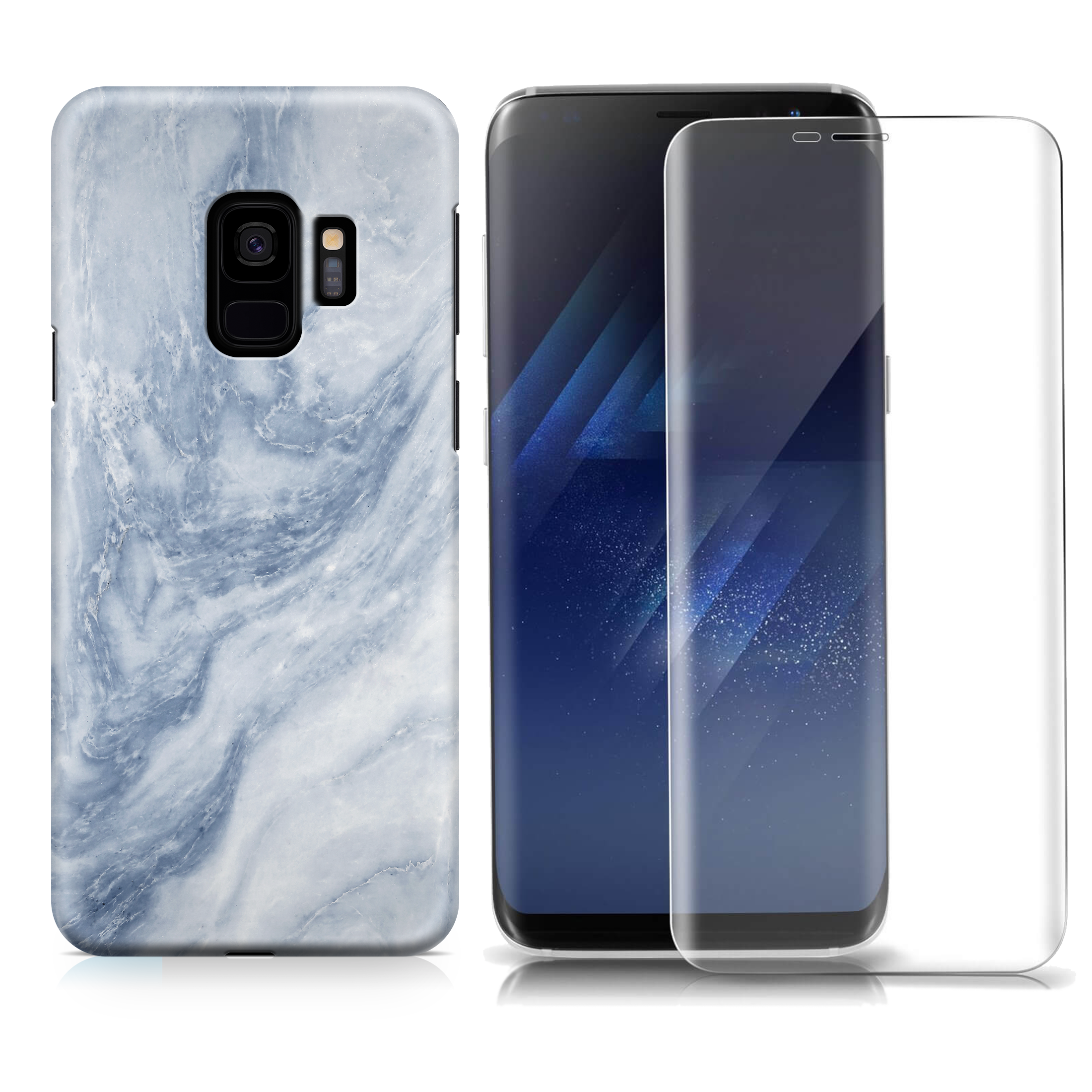 BLUE MARBLE SAMSUNG CASE + SCREEN PROTECTOR
