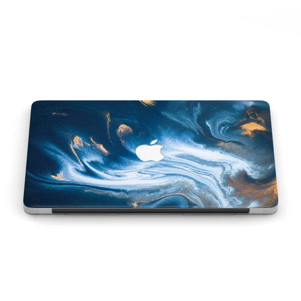 AS TIME GOLDS MARBLE MACBOOK CASE