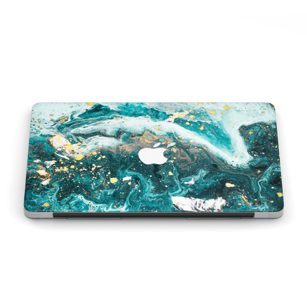 DRIPPIN' IN GOLD MARBLE MACBOOK CASE