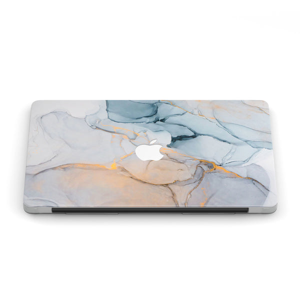 CERULEAN ASH GOLD MACBOOK CASE