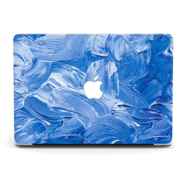 STREAKS OF BLUE MACBOOK CASE