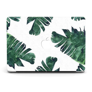 WHITE TROPICAL MACBOOK CASE