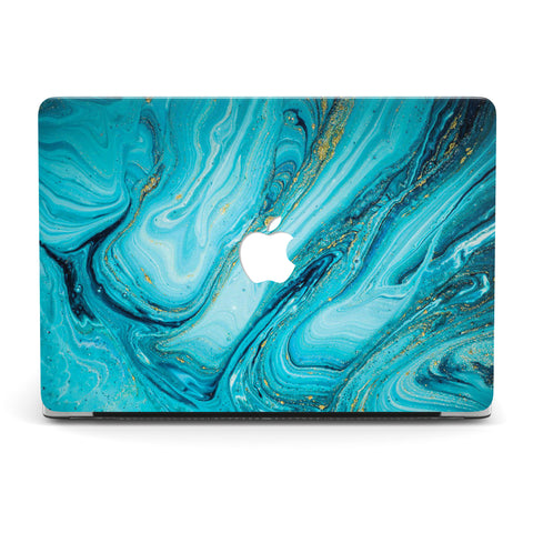 DEEP SEA GOLD CORAL MACBOOK CASE