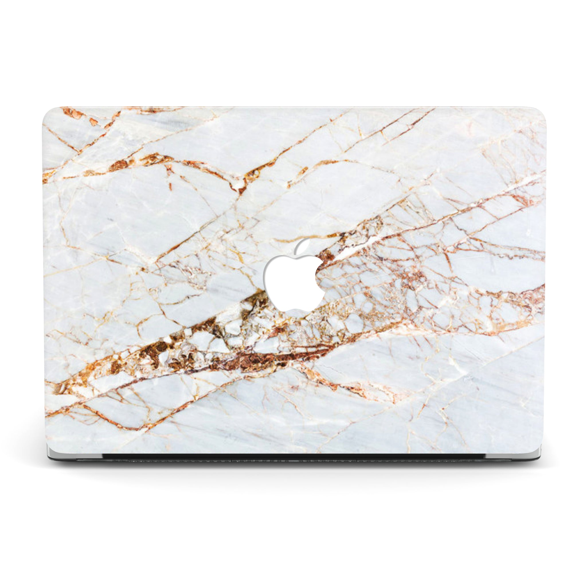 MORE THAN GOLD WHITE MARBLE MACBOOK CASE