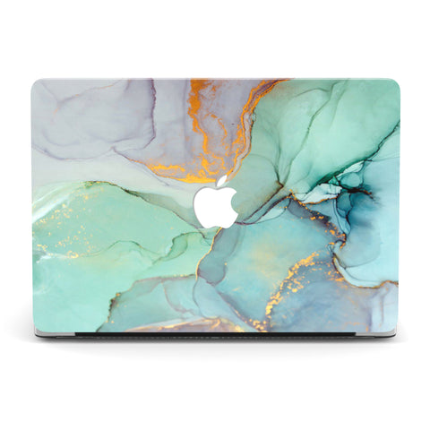 EMERALD GOLD SUNSET MACBOOK CASE