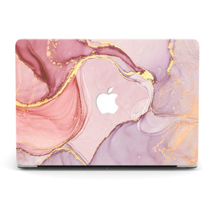 HEART OF GOLD MARBLE MACBOOK CASE
