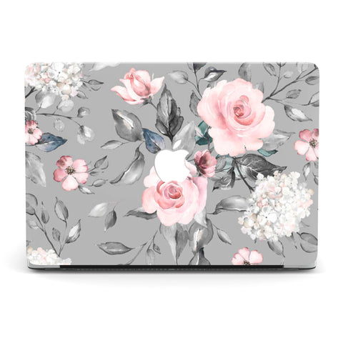 GREY FLORA MEDLEY MACBOOK CASE