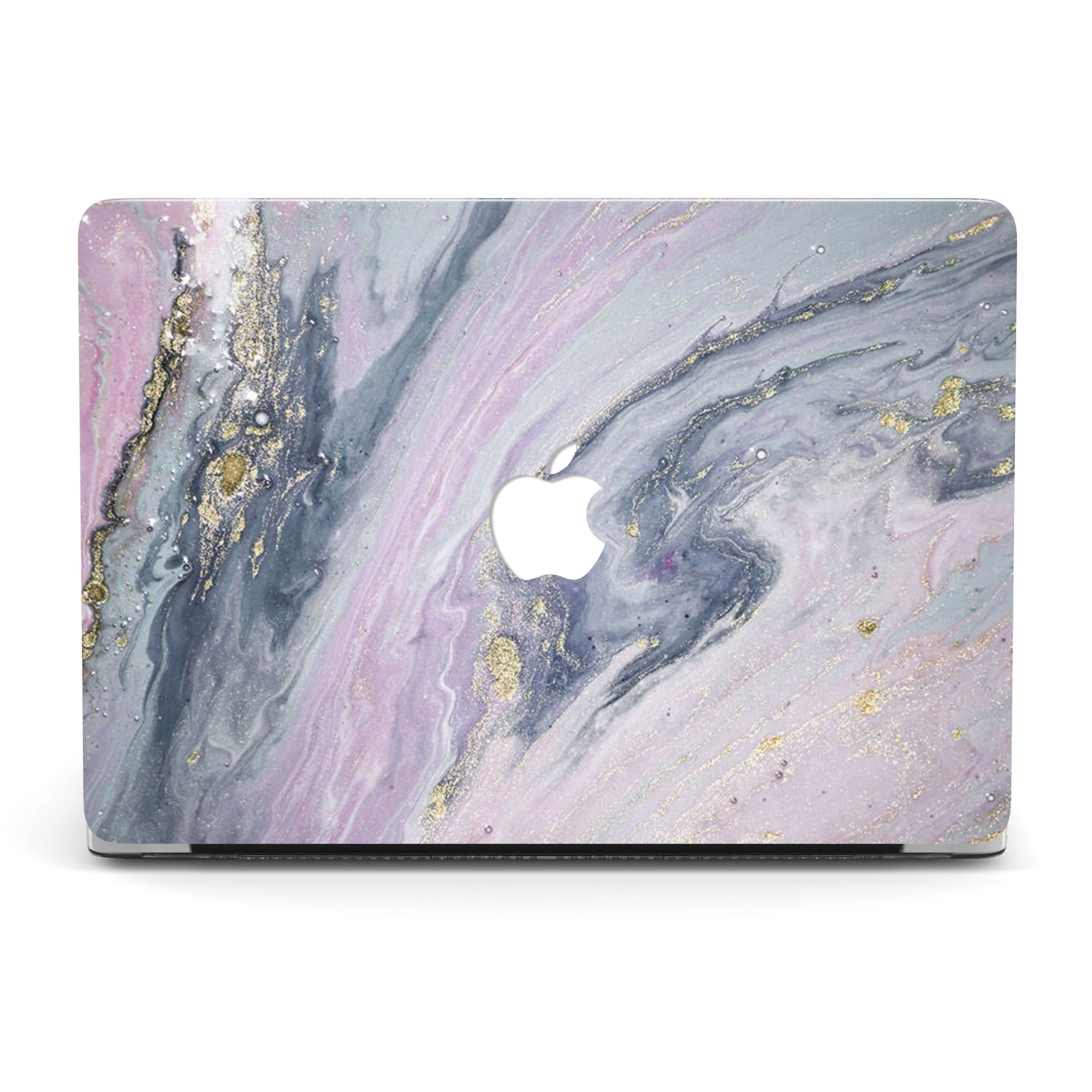 RASPBERRY SWIRLS MARBLE MACBOOK CASE