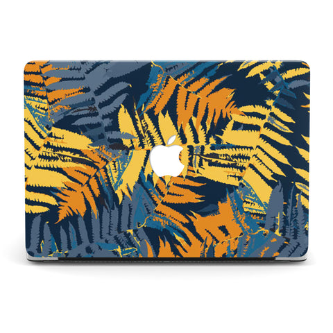 NAVY TROPICAL MACBOOK CASE