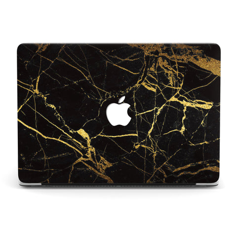 IT'S BLACK GOLD MARBLE MACBOOK CASE