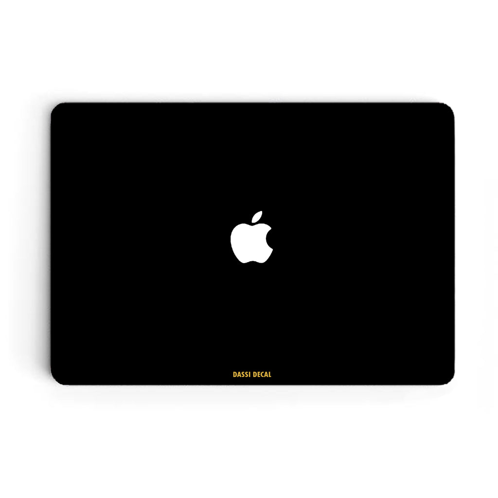 MATTE BLACK MACBOOK SKIN