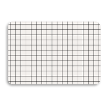 WHITE GRID UNIVERSAL LAPTOP SKIN