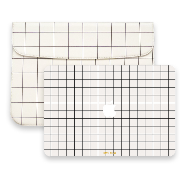 WHITE GRID SKIN SLEEVE BUNDLE SET