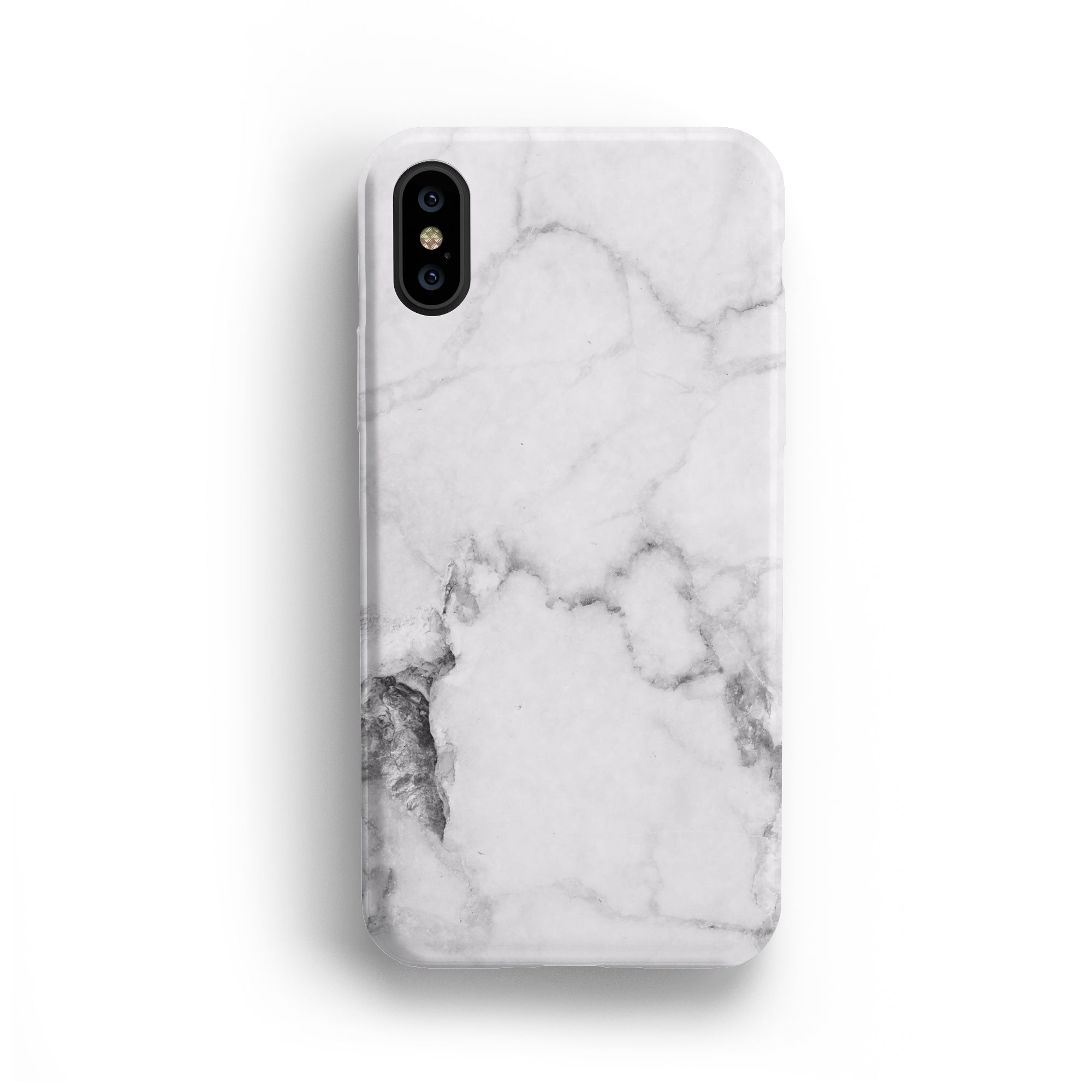 WHITE MARBLE IPHONE CASE + SCREEN PROTECTOR