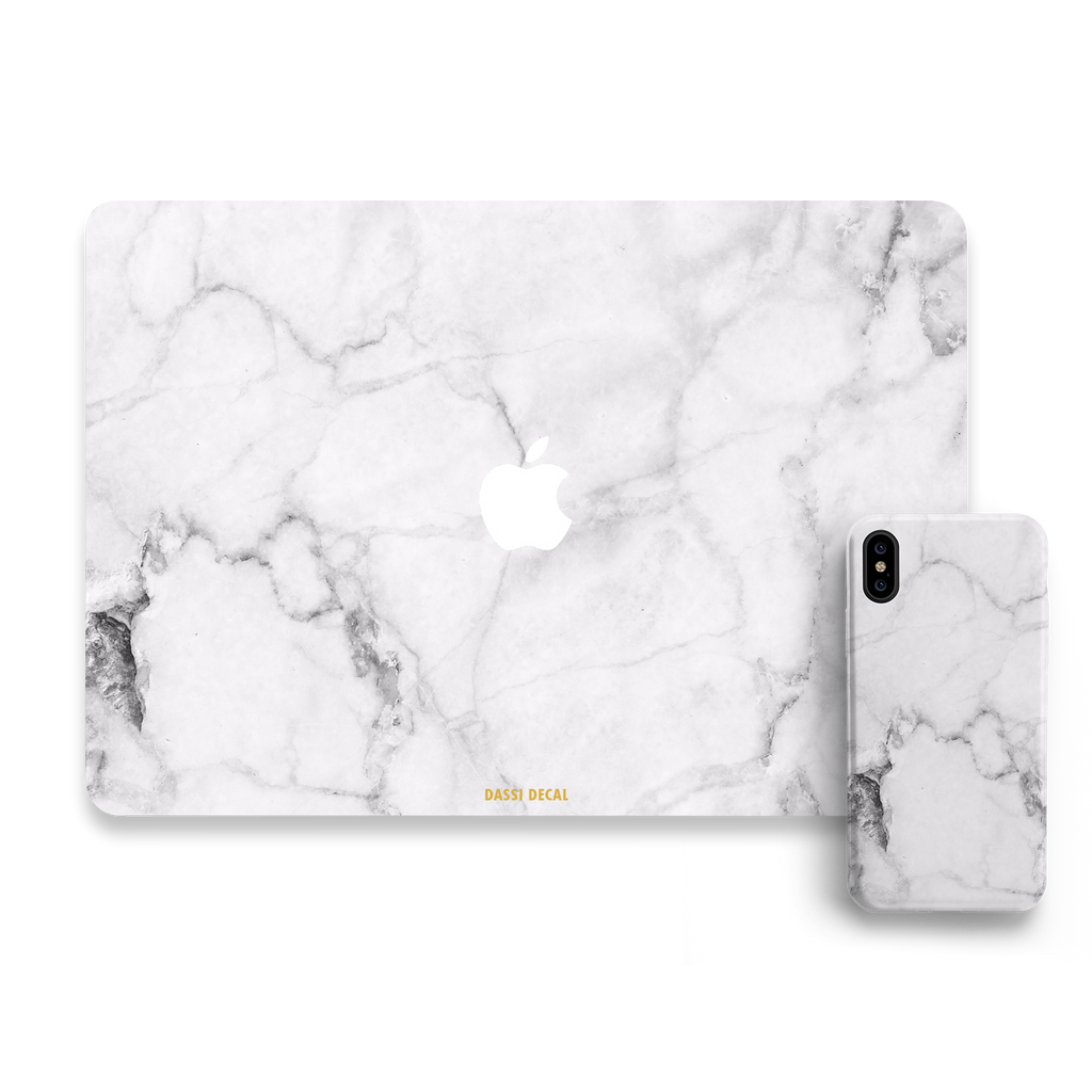 WHITE MARBLE IPHONE BUNDLE SET