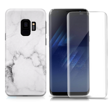 WHITE MARBLE SAMSUNG CASE + SCREEN PROTECTOR