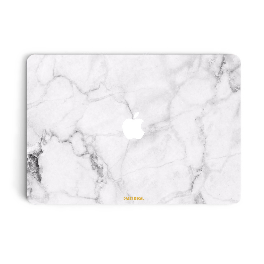 WHITE MARBLE MACBOOK SKIN