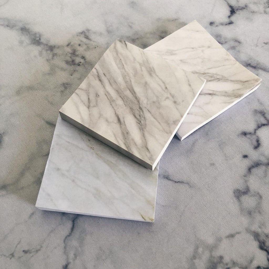 WHITE MARBLE MINI NOTEPAD